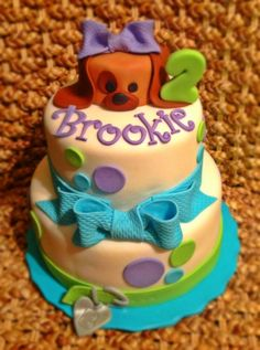 Puppy Cake with Brookie on it