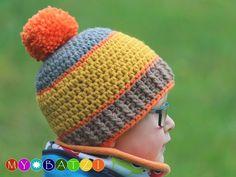 Mit dieser Häkelanleitung kannst du eine Mütze für Jungs, junge Männer oder Herren häkeln. Das Ebook ist für Mützen für Kinder (ab 1 Jahr) und Erwachsene geschrieben.Die Farben können von dir natürlich beliebig variiert werden und so ergeben sic