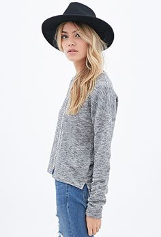 Classic Heathered Sweatshirt | FOREVER21 - 2000118442