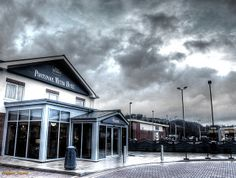BROODING WELSH SKY - Stormy clouds moving in across Pontypool Metro Hotel. #Project365 #photoaday