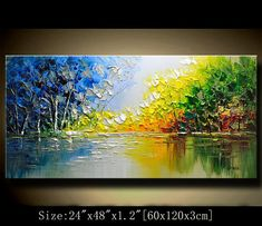 contemporary wall artPalette Knife Paintingcolorful