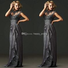 Wholesale Mother of the Bride Dress - Buy Elegant Mother of the Bride Dresses with Cap Sleeves High Neck Lace Appliques A Line Chiffon Backless Bridal Mother Gowns 2014, $103.75 | DHgate