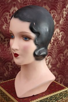 Rare 20s Famous DECOEYES Mannequin Display Head Bust      - sought after mannequin  - famous Decoeyes.  via Etsy.