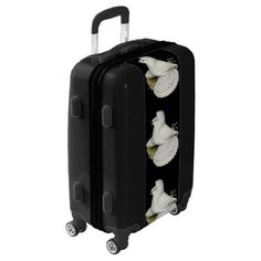 #Trumpeter Pigeon White Luggage - #luggage #suitcase #suitcases #bags #trunk #trunks