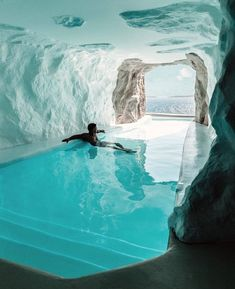 The 'Cave Suite' in Mykonos' Cavo Tagoo resort features an indoor/outdoor pool. Shot by travel destinations 2019 The 'Cave Suite' in Mykonos' Cavo Tagoo resort features an indoor/outdoor pool. Shot by Jeremy Austin. Vacation Places, Dream Vacations, Honeymoon Places, Vacation Travel, Tropical Vacations, Dream Vacation Spots, Dream Trips, Family Travel, Resorts