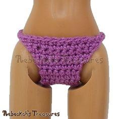 Crochet Patterns Galore - Fashion Doll Panties