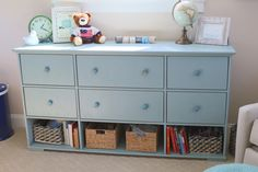 The Hurdal Dresser from IKEA - Painted, modified, and with new knobs!
