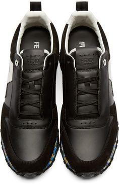 new arrival c2681 8c214 Fendi Black   Multicolor Running Sneakers Tenisky