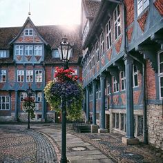 Flowers and lantern in Wolfenbüttel Places To Travel, Places To See, Travel Destinations, Earth City, City Photography, Amazing Photography, The Good Place, Traveling By Yourself, Beautiful Places