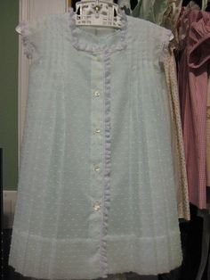 Pale Mint Green Dobby Daygown