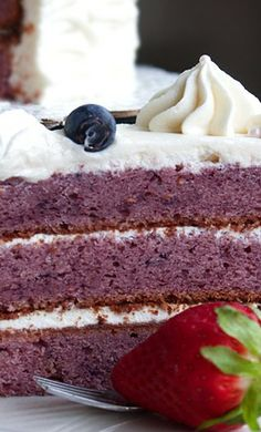 Berry Pound Cake with White Chocolate Buttercream Recipe ~ tastes amazing!