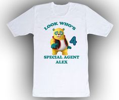 Special Agent Oso Personalized White Birthday Shirt: Special Agent Oso Personalized White Birthday Shirt I use 100% Gildan… #OnlineMarket