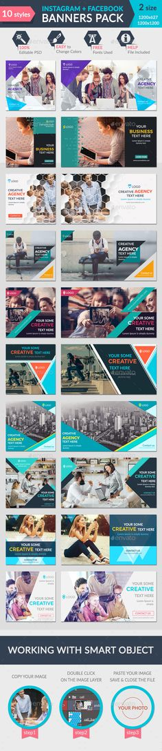 Facebook + Instagram Banners Pack-2 - Banners & Ads Web Elements Download here : https://graphicriver.net/item/facebook-instagram-banners-pack2/19762004?s_rank=136&ref=Al-fatih