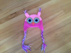Crochet Owl Hat by TutuCute4Words1 on Etsy