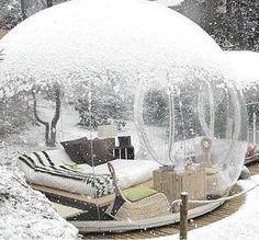 Outdoor winter garden