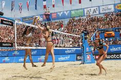 Beach volleyball in the Hague.