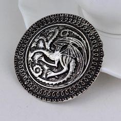 Game Of Thrones Greyjoy Famille Sigil Badge Pin Noir Bouton Broche officiel
