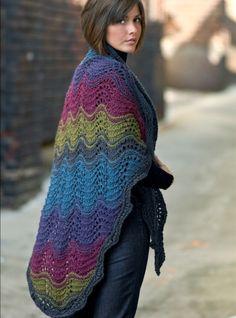 Kollage Yarns--Barb Kervin--Color Burst Shawl