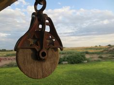 Antique Starline Hay Pulley. Cast Iron and Wood Primitive Barn Tool on Etsy, $90.00