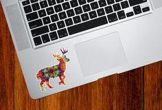 CLR:MB - Rainbow Tie Dye Deer - Laptop | Macbook | Computer - Vinyl Decal Sticker © YYDC (Size Variations Available)