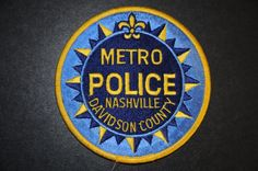Nashville Police Patch, Davidson County, Tennessee (Current Issue) - Capitals Display