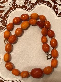 Art Deco Egg Yolk and Butterscotch Baltic Amber Necklace