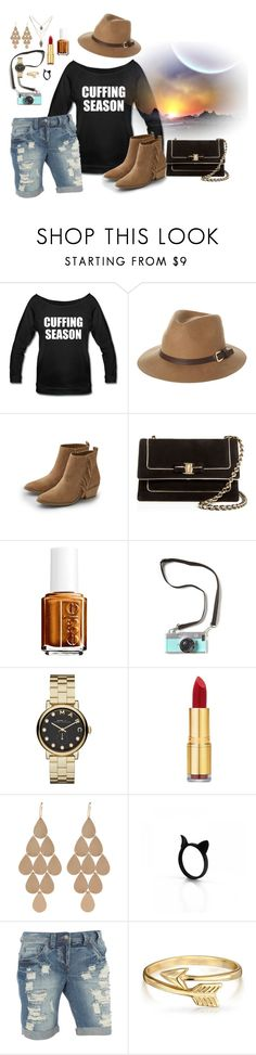 """""""Transition to Cuffing Season"""" by taglinestshirts ❤ liked on Polyvore featuring Rusty, American Eagle Outfitters, Salvatore Ferragamo, Essie, Marc by Marc Jacobs, Isaac Mizrahi, Irene Neuwirth, Dorothy Perkins and Bling Jewelry"""