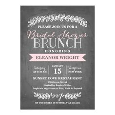 This Baby Shower Brunch Invitation is the perfect blend of modern and classy. Send your guests an invitation they won't forget. Opt for a textured paper or die-cut shape and this invitation is sure to stand out! Invitation Fete, Carton Invitation, Custom Baby Shower Invitations, Brunch Invitations, Wedding Invitations, Invites, Christening Invitations, Baby Shower Floral, Baby Shower Brunch