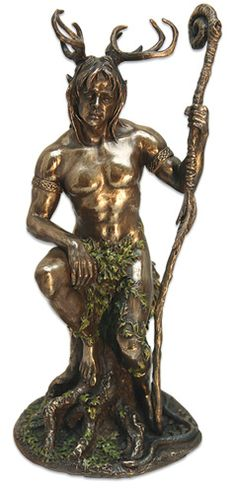 Cernunnos, the Celtic deity of the woodland, is one with all the forest. He hears the cry of the fleeing hare, smells the scent of the pursuing wolf.