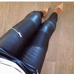 pants leggings zipper nude high heels high heels