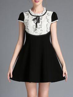 Bow Lace Mini Dress