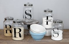 Classic Glass & Metal Canisters!