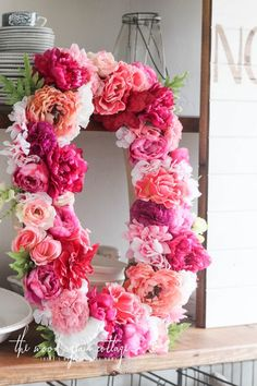 How To Make A Floral Letter - The Wood Grain Cottage