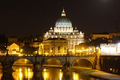 St. Peter's Basilica on a warm summer's eve in Rome. An integral experience of Italy.