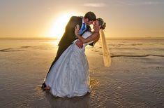 Beach Wedding, Bride, Groom, Ocean, Sea, Romantic