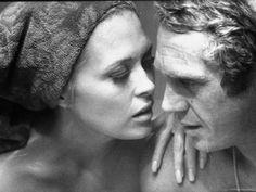 Faye Dunaway Practicing Scenes with Steve McQueen