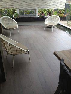 Timber look tiles for alfresco