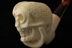 Skull in a Hand Meerschaum Tobacco Pipe