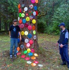 Disc golf tree