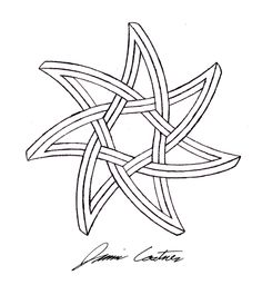 Another seven pointed impossible star, except this time I made it curved. Curved seven pointed impossible star 7 Pointed Star, Celtic Drawings, Celtic Knot Designs, Compass Rose, Celtic Symbols, Star Tattoos, Star Shape, Leather Craft, Tattoo Inspiration
