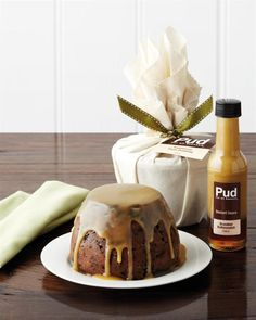 Traditional Plum Pudding 800g with Brandied Butterscotch Sauce.  Great grandmother's recipe and packed with local fruits and nuts.