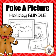 This bundle is growing, so grab it now before the price goes up and SAVE BIG!Thanks so much for viewing my Holiday Poke A Picture BUNDLE! This bundle is designed to offer a fun and  engaging way to develop fine motor skill and letter recognition during your holiday units.