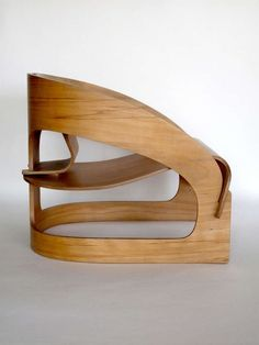 Plywood 4801 lounge chair by Joe Colombo for Kartell 4