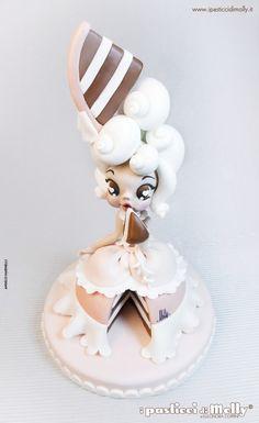 Molly tutorial porcelana fria polymer clay pasta francesa masa flexible fimo topper modelado figurine