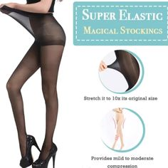 Shop OFF Super Elastic Stockings – Mode – Clothing Hacks Elastic Stockings, Cool Inventions, Mode Outfits, Cool Things To Buy, Stuff To Buy, Shapewear, Natural Skin, Ideias Fashion, Beauty Hacks