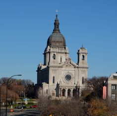 Basilica of St. Mary, Minneapolis, from the pedestrian bridge over Interstate 35, Minneapolis.
