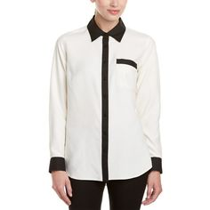 Go>Silk Go>Silk Silk Blouse (401085901) ($60) ❤ liked on Polyvore featuring tops, blouses, ivory, sweaters, go silk blouse, go silk tops, silk top, silk blouse and button front blouse
