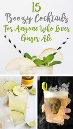 15 Boozy Cocktails for Anyone Who Loves Ginger Ale (substitute ginger kombucha)