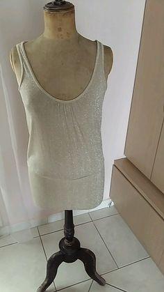 Mini robe beige doré H