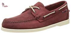Sebago - Docksides - Chaussure bateau homme, rouge (Wine Nubuck), 40 - Chaussures sebag (*Partner-Link)